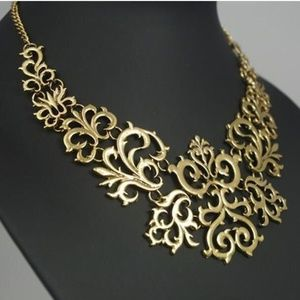 Jewelry - Gold Gothic Carved Collar Necklace